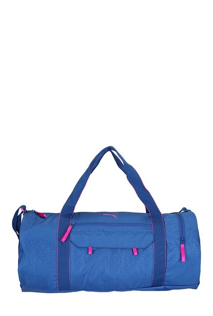 7d3602bcefb8 Buy Puma Fit AT True Blue Printed Polyester Gym Bag For Women At Best Price    Tata CLiQ