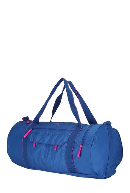 6a58f3cbc325 Buy Puma Fit AT True Blue Printed Polyester Gym Bag For Women At ...