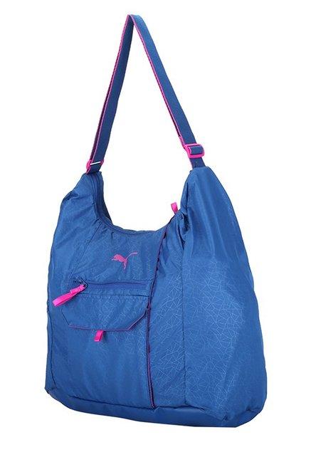 364388ac756b Buy Puma Fit AT True Blue Printed Polyester Hobo Shoulder Bag For ...