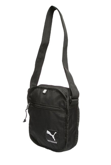 Buy Puma Academy Black Solid Polyester Sling Bag For Men At Best ... 8ad2cf134a6f7
