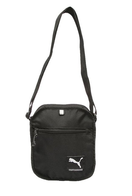 Buy Puma Academy Black Solid Polyester Sling Bag For Men At Best Price   Tata  CLiQ 9ed18a649786a