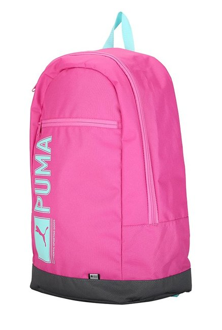 807cfc1dc69 Buy Puma Pioneer Pink & Black Solid Polyester Laptop Backpack For ...