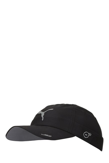 Buy Puma Duocell NRGY Black Solid Running Cap Online At Best ... 7480c01861cb