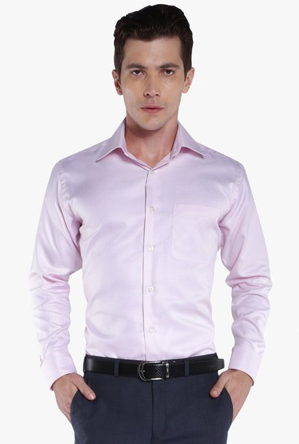 131591c8239 Buy Raymond Baby Pink Full Sleeves Cotton Shirt for Men Online ...
