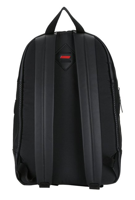 Buy Puma Ferrari LS Black Perforated Leather Laptop Backpack For Men ... 5a4f607e25336