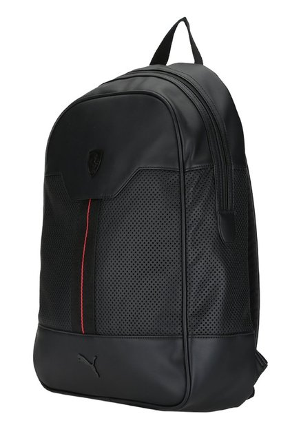 f797b55d330f Buy Puma Ferrari LS Black Perforated Leather Laptop Backpack For Men ...