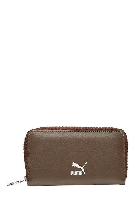 Puma Originals East-West Chocolate Brown Solid Wallet