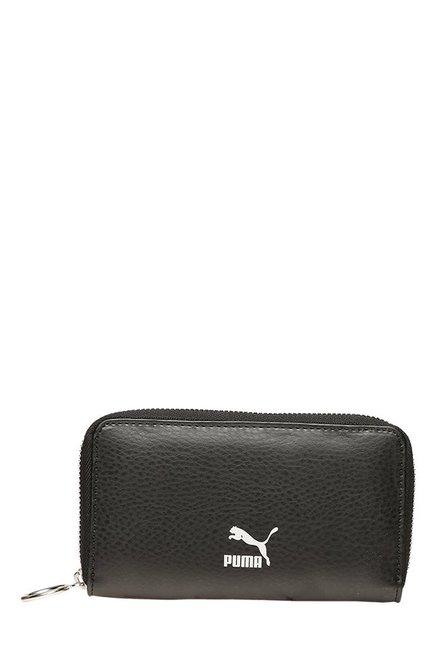 Puma Originals East-West Black Solid Wallet