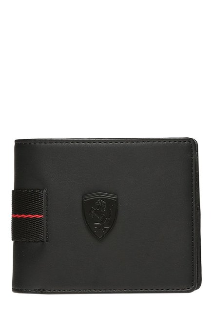 16c60e222be6 Buy Puma Ferrari LS Black Solid Bi-Fold Wallet For Men At Best Price   Tata  CLiQ