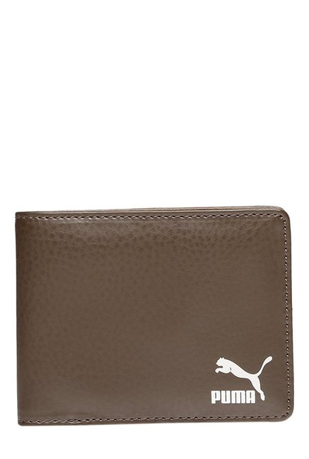 Puma Originals Chocolate Brown Solid Bi-Fold Wallet