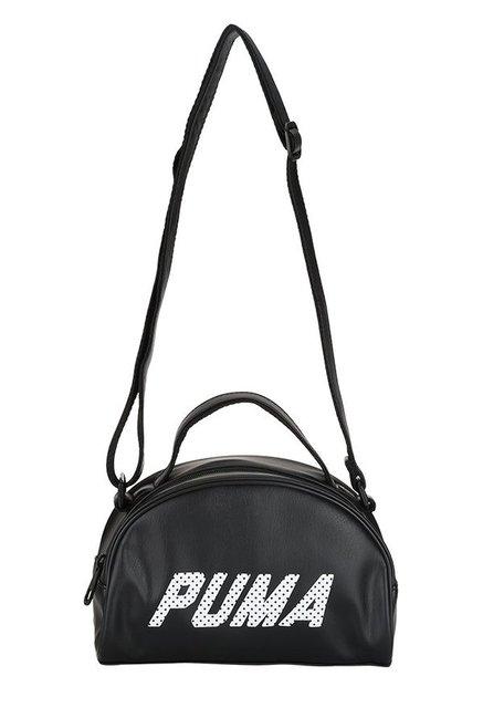 a29cbfba51 Buy Puma Prime Black Solid Sling Bag For Women At Best Price   Tata CLiQ