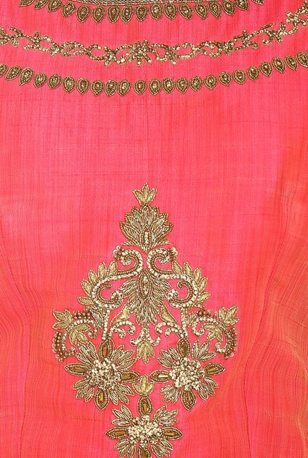 Soch Pink Embroidered Silk Suit Set