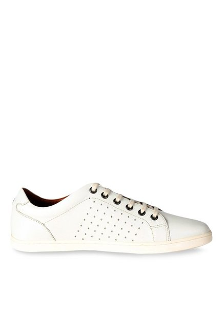 Louis Philippe White Casual Sneakers