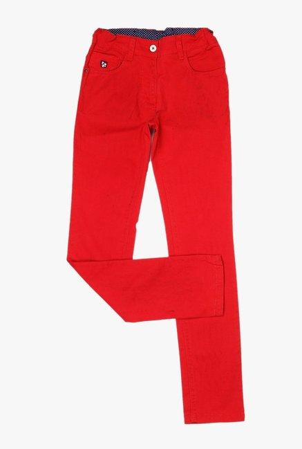 e3877e9e9 Buy US Polo Red Raw Denim Jeans for Girls Clothing Online   Tata ...