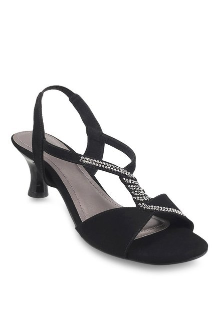 680798d9a87 Buy Metro Black Sling Back Sandals for Women at Best Price   Tata CLiQ