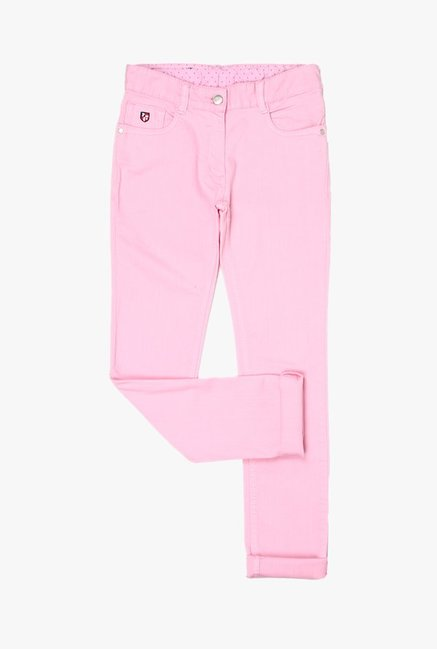 548e0fc62 Buy US Polo Pink Raw Denim Jeans for Girls Clothing Online   Tata ...
