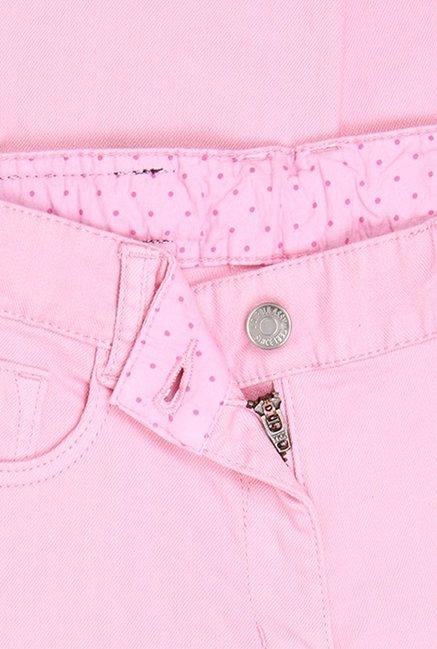 cc6c8e7d3 Buy US Polo Pink Raw Denim Jeans for Girls Clothing Online   Tata CLiQ