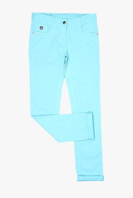 354ea77bb Buy US Polo Light Blue Raw Denim Jeans for Girls Clothing Online   Tata CLiQ