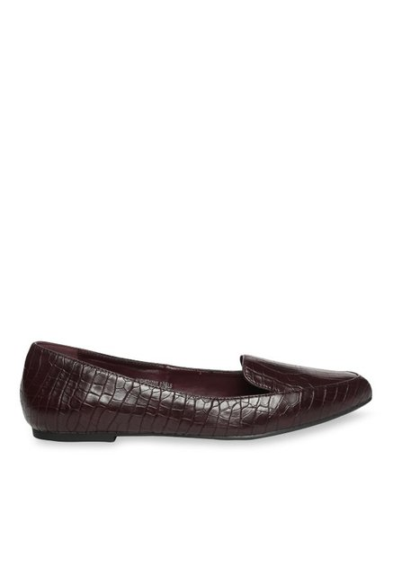 f25fb207644 Buy Allen Solly Dark Brown Loafers for Women at Best Price   Tata CLiQ