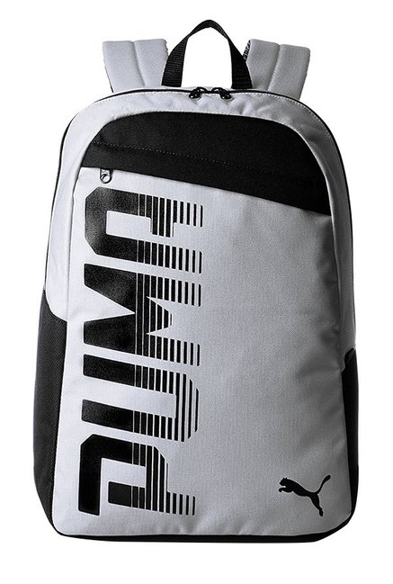 faf5dea86c2 Buy Puma Pioneer Quarry Grey Solid Polyester Laptop Backpack Online At Best  Price   Tata CLiQ