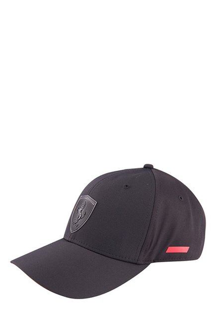 0bb1460c2bff10 Buy Puma Ferrari LS Black Solid Polyester Gus Cap Online At Best Price @  Tata CLiQ