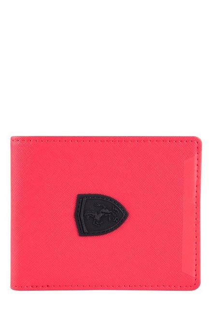282a6c366ea8e Buy Puma Ferrari LS Rosso Corsa Solid Bi-Fold Wallet Online At Best ...