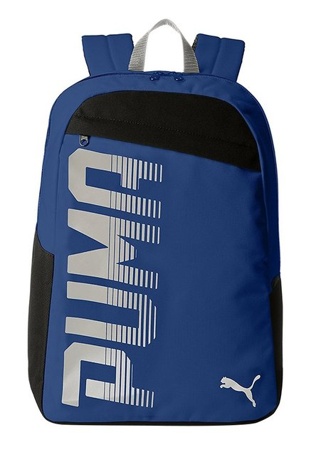d95a47daa7 Buy Puma Pioneer Limoges Blue Solid Polyester Laptop Backpack Online At  Best Price   Tata CLiQ