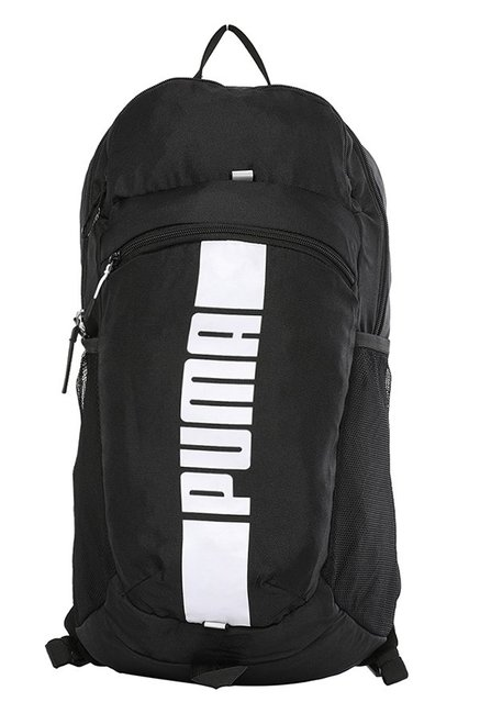 Puma Deck Black Solid Polyester Laptop Backpack