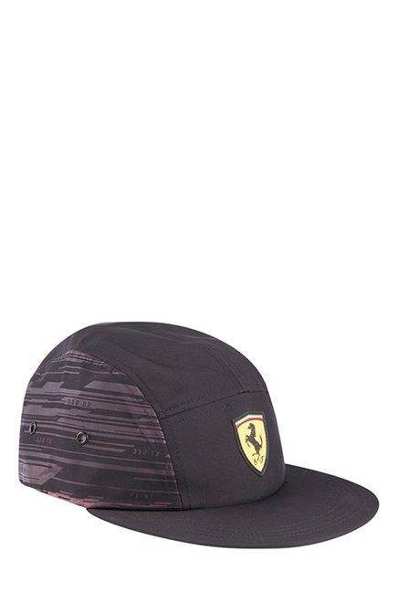 5a50e637e9e Buy Puma Ferrari Fanwear Transform Black Printed Running Cap Online ...