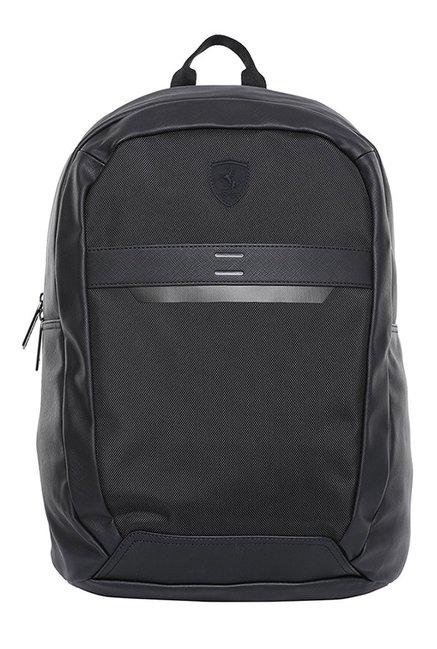 e2204e42b3d8 Buy Puma Ferrari LS Black Solid Laptop Backpack Online At Best Price   Tata  CLiQ