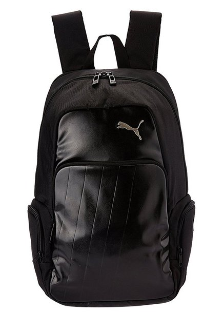 Buy Puma Elite Black Solid Polyester Backpack Online At Best Price   Tata  CLiQ 97d81c4077932