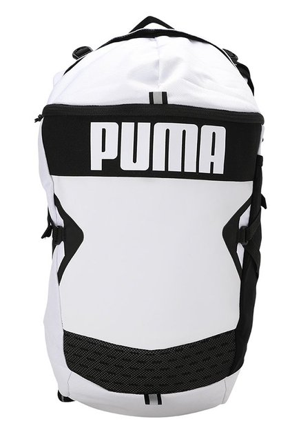 6fe27ea1d556 Buy Puma Stance White Solid Polyester Backpack Online At Best Price   Tata  CLiQ