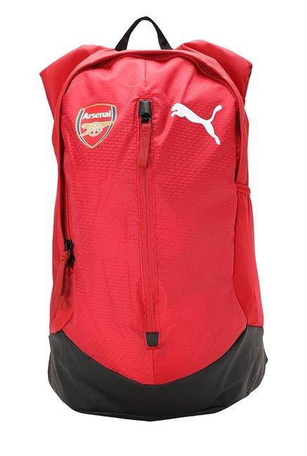 0f12af6ee Buy Puma Arsenal Performance Chilli Pepper   Black Backpack Online At Best  Price   Tata CLiQ
