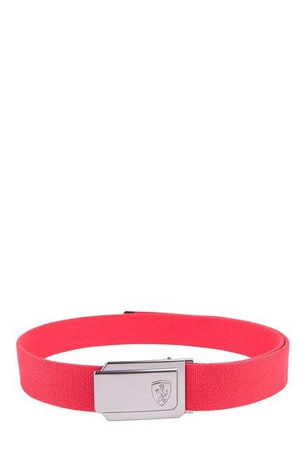 d40da20c107ee Buy Puma Ferrari Fanwear Rosso Corsa Solid Polyester Narrow Belt ...