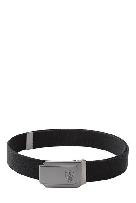 Buy Puma Ferrari Fanwear Black Solid Polyester Narrow Belt Online At Best  Price   Tata CLiQ 8cb8e341e1