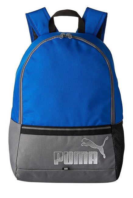 604d1ef32e40 Buy Puma Phase Lapis Blue   Quiet Shade Color Block Backpack Online At Best  Price   Tata CLiQ