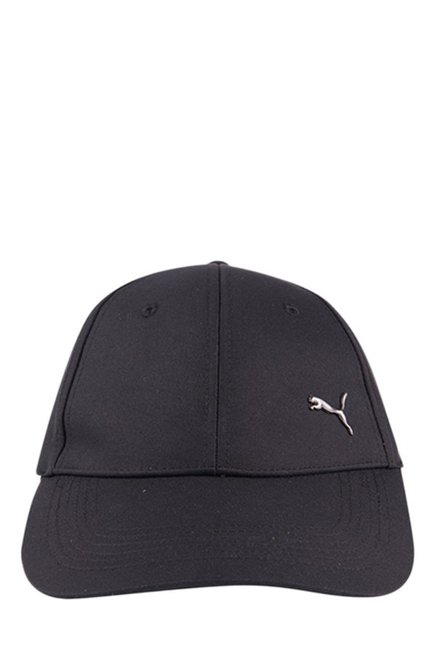 4ab8077587f Buy Puma Metal Cat Black Solid Polyester Gus Cap Online At Best ...