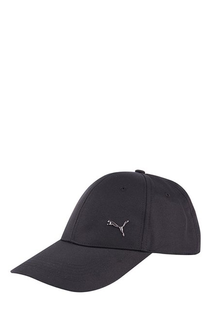 Buy Puma Metal Cat Black Solid Polyester Gus Cap Online At Best Price    Tata CLiQ 15a232e08b2