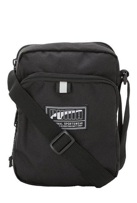 Buy Puma Academy Black Solid Polyester Sling Bag Online At Best Price   Tata  CLiQ b0c69f2ff4725