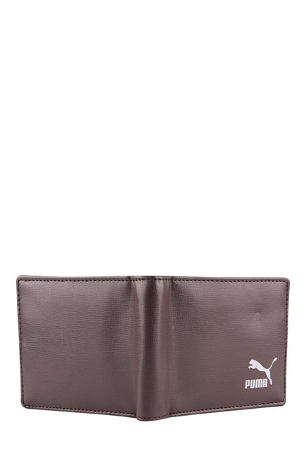 Puma Originals Billfold Chocolate Brown Solid Bi-Fold Wallet