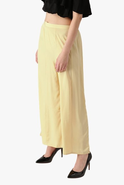 Libas Beige Regular Fit Rayon Palazzo