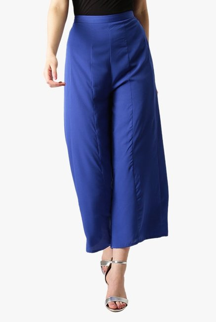 Libas Blue Regular Fit Rayon Palazzo