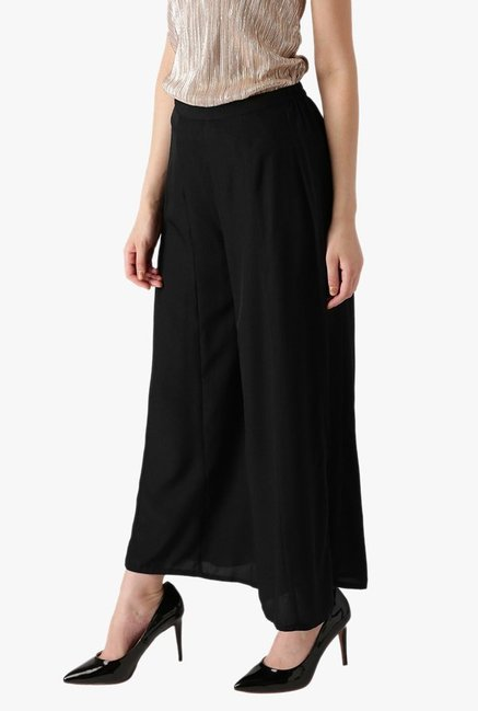 Libas Black Regular Fit Rayon Palazzo