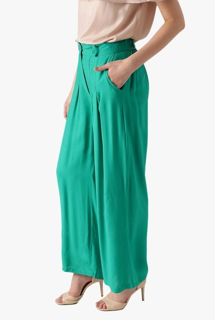 Libas Green Regular Fit Rayon Palazzo
