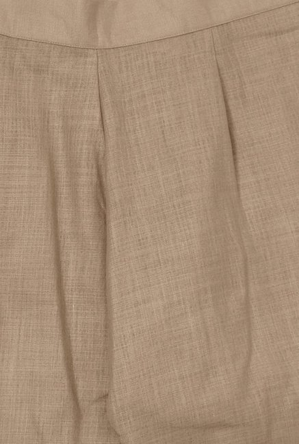 Libas Beige Textured Cotton Palazzo