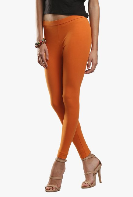 W Orange Cotton Leggings