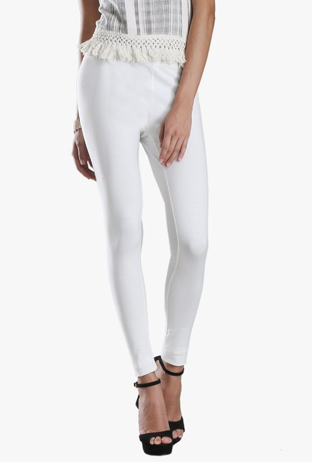 W White Cotton Leggings