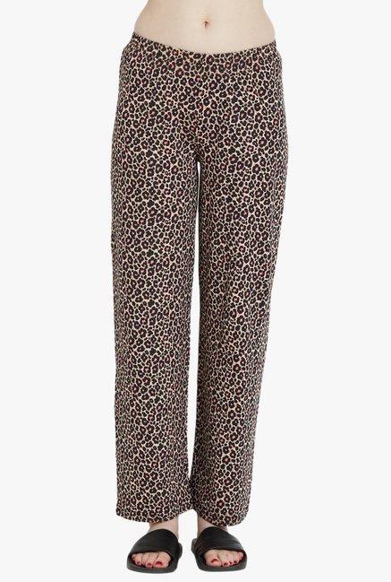 cf7c9183b55e Buy Blush By PrettySecrets Brown Printed Pyjamas for Women Online ...