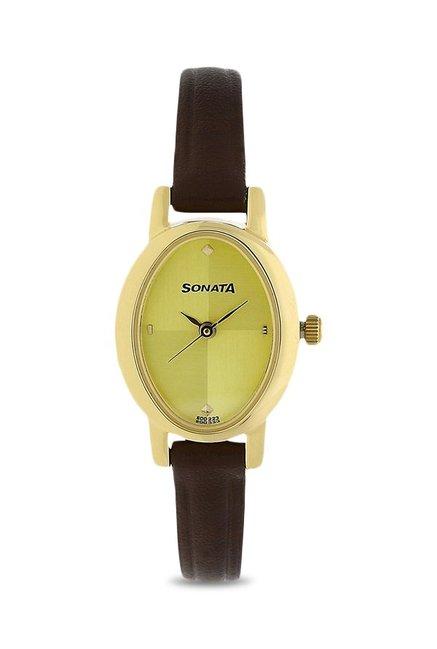 Sonata NK8100YL02 Analog Watch for Women