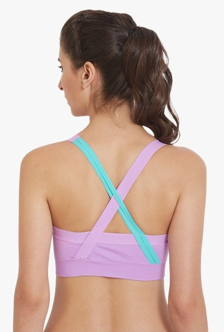 Blush By PrettySecrets Purple Under Wired Padded Sports Bra